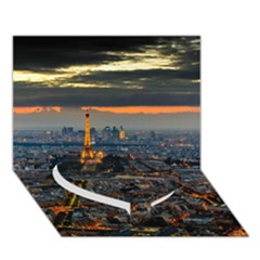 Paris From Above Heart Bottom 3d Greeting Card (7x5)