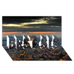 PARIS FROM ABOVE BEST SIS 3D Greeting Card (8x4)