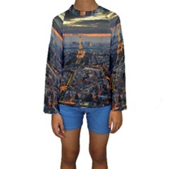 Paris From Above Kid s Long Sleeve Swimwear