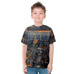 PARIS FROM ABOVE Kid s Cotton Tee