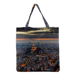 Paris From Above Grocery Tote Bags