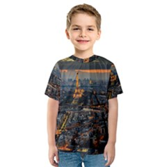 Paris From Above Kid s Sport Mesh Tees