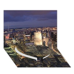 New York 1 Heart Bottom 3d Greeting Card (7x5)