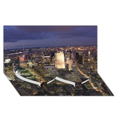 NEW YORK 1 Twin Heart Bottom 3D Greeting Card (8x4)