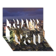NEW YORK 1 THANK YOU 3D Greeting Card (7x5)