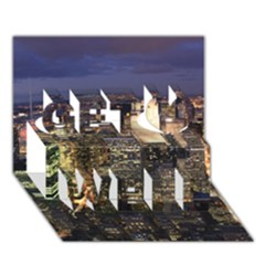 NEW YORK 1 Get Well 3D Greeting Card (7x5)