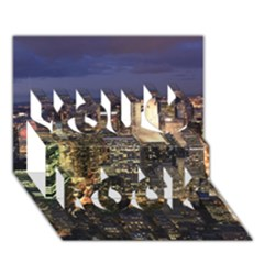 NEW YORK 1 You Rock 3D Greeting Card (7x5)