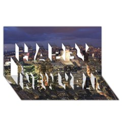NEW YORK 1 Happy New Year 3D Greeting Card (8x4)
