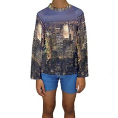 NEW YORK 1 Kid s Long Sleeve Swimwear