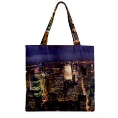 NEW YORK 1 Zipper Grocery Tote Bags