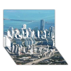 MIAMI YOU ARE INVITED 3D Greeting Card (7x5)
