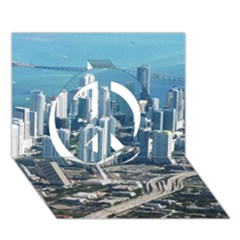 Miami Peace Sign 3d Greeting Card (7x5)