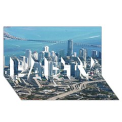 MIAMI PARTY 3D Greeting Card (8x4)