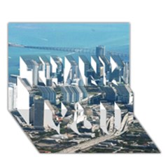 MIAMI THANK YOU 3D Greeting Card (7x5)