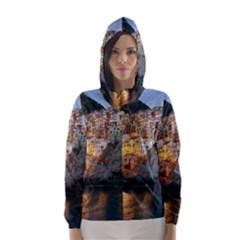Manarola Italy Hooded Wind Breaker (women)
