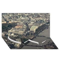 LONDON Twin Heart Bottom 3D Greeting Card (8x4)