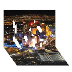 LAS VEGAS 1 LOVE 3D Greeting Card (7x5)