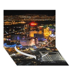 Las Vegas 1 Heart Bottom 3d Greeting Card (7x5)