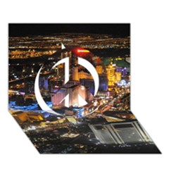 LAS VEGAS 1 Peace Sign 3D Greeting Card (7x5)