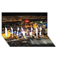 LAS VEGAS 1 BEST SIS 3D Greeting Card (8x4)