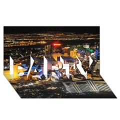 LAS VEGAS 1 PARTY 3D Greeting Card (8x4)