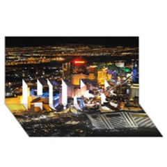 LAS VEGAS 1 HUGS 3D Greeting Card (8x4)
