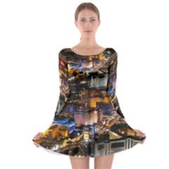 Las Vegas 1 Long Sleeve Skater Dress