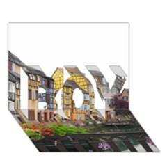 COLMAR FRANCE BOY 3D Greeting Card (7x5)