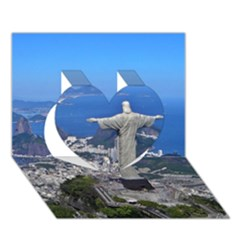 CHRIST ON CORCOVADO Heart 3D Greeting Card (7x5)