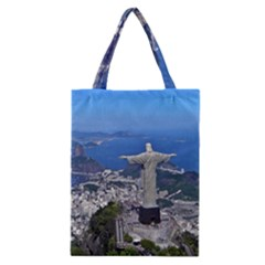 CHRIST ON CORCOVADO Classic Tote Bags