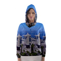 CHRIST ON CORCOVADO Hooded Wind Breaker (Women)