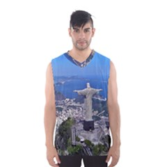 CHRIST ON CORCOVADO Men s Basketball Tank Top