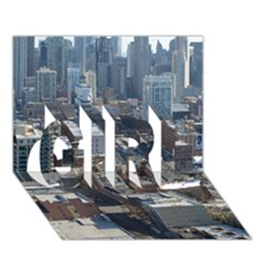 CHICAGO GIRL 3D Greeting Card (7x5)
