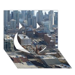 CHICAGO Heart 3D Greeting Card (7x5)