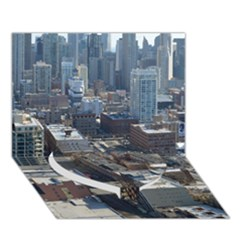 Chicago Heart Bottom 3d Greeting Card (7x5)