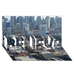 Chicago Believe 3d Greeting Card (8x4)