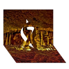 VOLCANO CAVE Ribbon 3D Greeting Card (7x5)