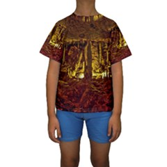 VOLCANO CAVE Kid s Short Sleeve Swimwear