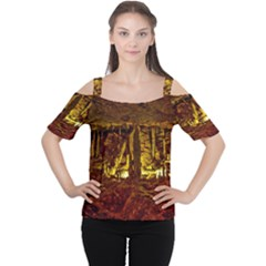 VOLCANO CAVE Women s Cutout Shoulder Tee
