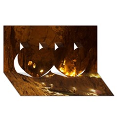 SKOCJAN CAVES Twin Hearts 3D Greeting Card (8x4)