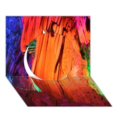REED FLUTE CAVES 4 Circle 3D Greeting Card (7x5)