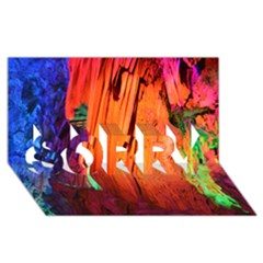 Reed Flute Caves 4 Sorry 3d Greeting Card (8x4)