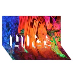 Reed Flute Caves 4 Hugs 3d Greeting Card (8x4)