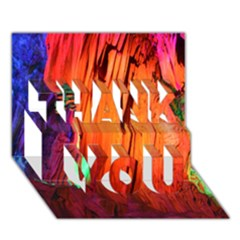 REED FLUTE CAVES 4 THANK YOU 3D Greeting Card (7x5)
