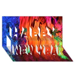 Reed Flute Caves 4 Happy New Year 3d Greeting Card (8x4)