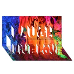 REED FLUTE CAVES 4 Laugh Live Love 3D Greeting Card (8x4)