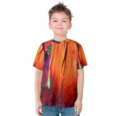 REED FLUTE CAVES 4 Kid s Cotton Tee