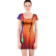 Reed Flute Caves 4 Short Sleeve Bodycon Dresses