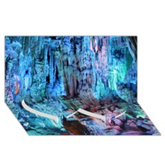 REED FLUTE CAVES 3 Twin Heart Bottom 3D Greeting Card (8x4)