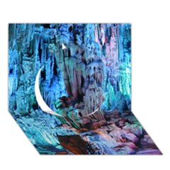 REED FLUTE CAVES 3 Circle 3D Greeting Card (7x5)
